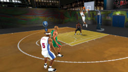 2-on-2 multiplayer game in 'NBA Live 09 All-Play'