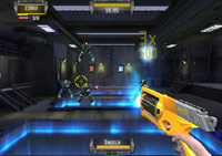 Battling droids in 'NERF N-Strike'