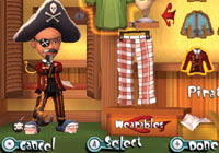 Dressed like a pirate in 'Carnival Games: MiniGolf'
