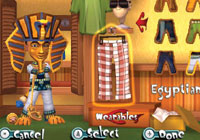 Dressed like King Tut in 'Carnival Games: MiniGolf'