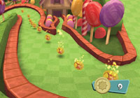 Greens that auto guide your aim in 'Carnival Games: MiniGolf'