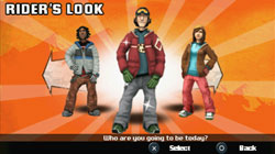Character customization in 'Shaun White Snowboarding'