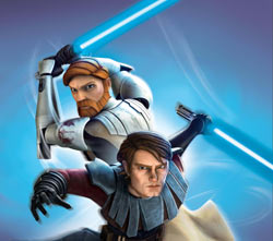 Obi-wan and Anakin in 'Star Wars The Clone Wars: Jedi Alliance'