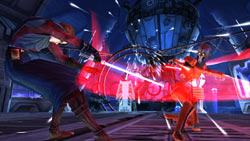Anakin dueling in 'Star Wars The Clone Wars: Lightsaber Duels'
