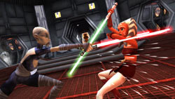 Skywalker padawan Ahsoka Tano from 'Star Wars The Clone Wars: Lightsaber Duels'