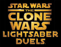 'Star Wars The Clone Wars: Lightsaber Duels' game logo
