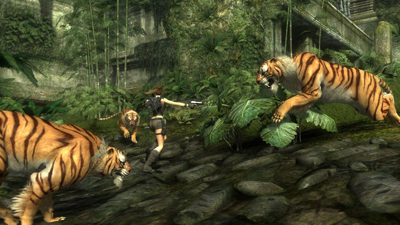 Tomb Raider: Underworld is loaded with a new melee combat system