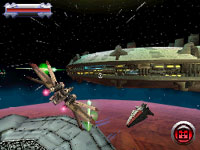 Space combat in Star Wars Battlefront: Elite Squadron for DS and DSi