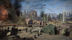 A troop airdrop in action in MAG