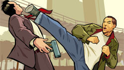 Huang Lee in action in 'Grand Theft Auto: Chinatown Wars'