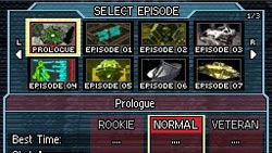 Selection of playable episodes in 'Moon'