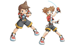 Boy and girl ranger in 'Pokémon Ranger: Shadows of Almia'