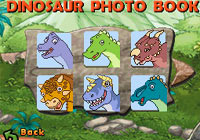 Dino identification with the dinosaur photo book in 'Go Diego Go: Great Dinosaur Rescue' for DS