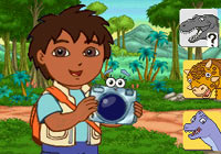 Diego taking dino pictures with in-game camera functionality in 'Go Diego Go: Great Dinosaur Rescue' for DS
