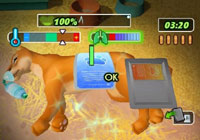 Diagnosing the problem with a puma in 'Petz Rescue Wildlife Vet'