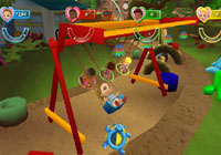 On the swing set in 'Imagine Party Babyz'