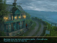 Max in an Irish countryside environment with weather effects in Secret Files: Tunguska for Wii