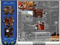 Jigsaw puzzle play screen from Mystery P.I. Portrait of a Thief