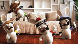 Dancing with the Rabbids in ' Rayman Raving Rabbids TV Party'