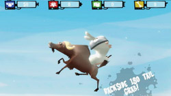 Beestie boarding mini-game in ' Rayman Raving Rabbids TV Party'