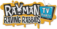' Rayman Raving Rabbids TV Party' game logo