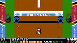 'Rally King' screenshot from 'Retro Game Challenge' for DS