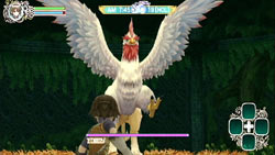 Boss battle in 'Rune Factory: Frontier'