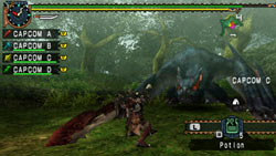 Wielding special weapons and items in 'Monster Hunter Freedom Unite'