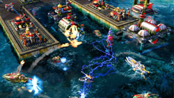 Naval combat in 'Command & Conquer: Red Alert 3 Ultimate Edition'