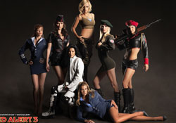 Still from the 'girls of RA3' featurette included with 'Command & Conquer: Red Alert 3 Ultimate Edition'
