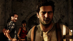 Sully, Chloe and Nathan Drake in 'Uncharted 2: Among Thieves'