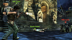 Online multiplayer screenshot example from 'Uncharted 2: Among Thieves'