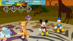 Dance with classic Disney characters in 'DanceDanceRevolution Disney Grooves'
