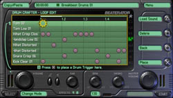 The Drum Crafter screen in 'Beaterator'