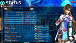 Reimi character stat screen in 'Star Ocean: The Last Hope'