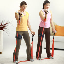 Two women strength training with the resistance band in 'EA SPORTS Active'