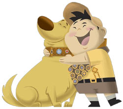 Dug and Russell from 'UP' The Video Game