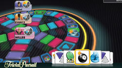 Classic gameboard feel in 'Trivial Pursuit'