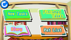 Task screen in 'My Pet Shop'