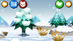 A Snowy winter environment in 'My Pet Shop'