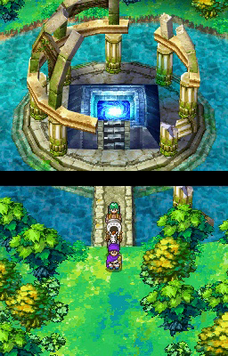 gameplay environments in 'Dragon Quest V: Hand of the Heavenly Bride