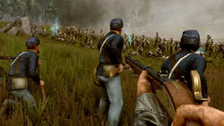 Fighting for American Union forces with a Springfield rifle in 'Darkest of Days'