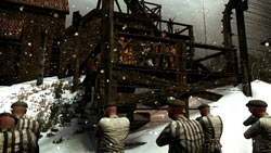 WWII German concentration camp environment from 'Darkest of Days'