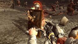 Using a futuristic weapon against a Roman legionaire in 'Darkest of Days'