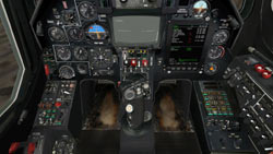 Cockpit full of avionics controls from 'DCS: Black Shark'