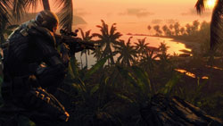 Vivid gameplay environments in 'Crysis Maximum Edition'