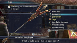 Track, trade and buy items in 'The Last Remnant'