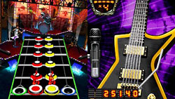 Gameplay screen from 'Guitar Hero On Tour: Modern Hits'