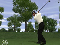 Using a driver off the tee in 'EA Sports Tiger Woods PGA Tour 10