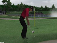 Using a wedge in a sand trap in 'EA Sports Tiger Woods PGA Tour 10